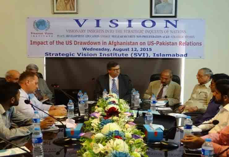The Impact of The US Drawdown in Afghanistan on US –Pakistan Relations on 12th August 2015