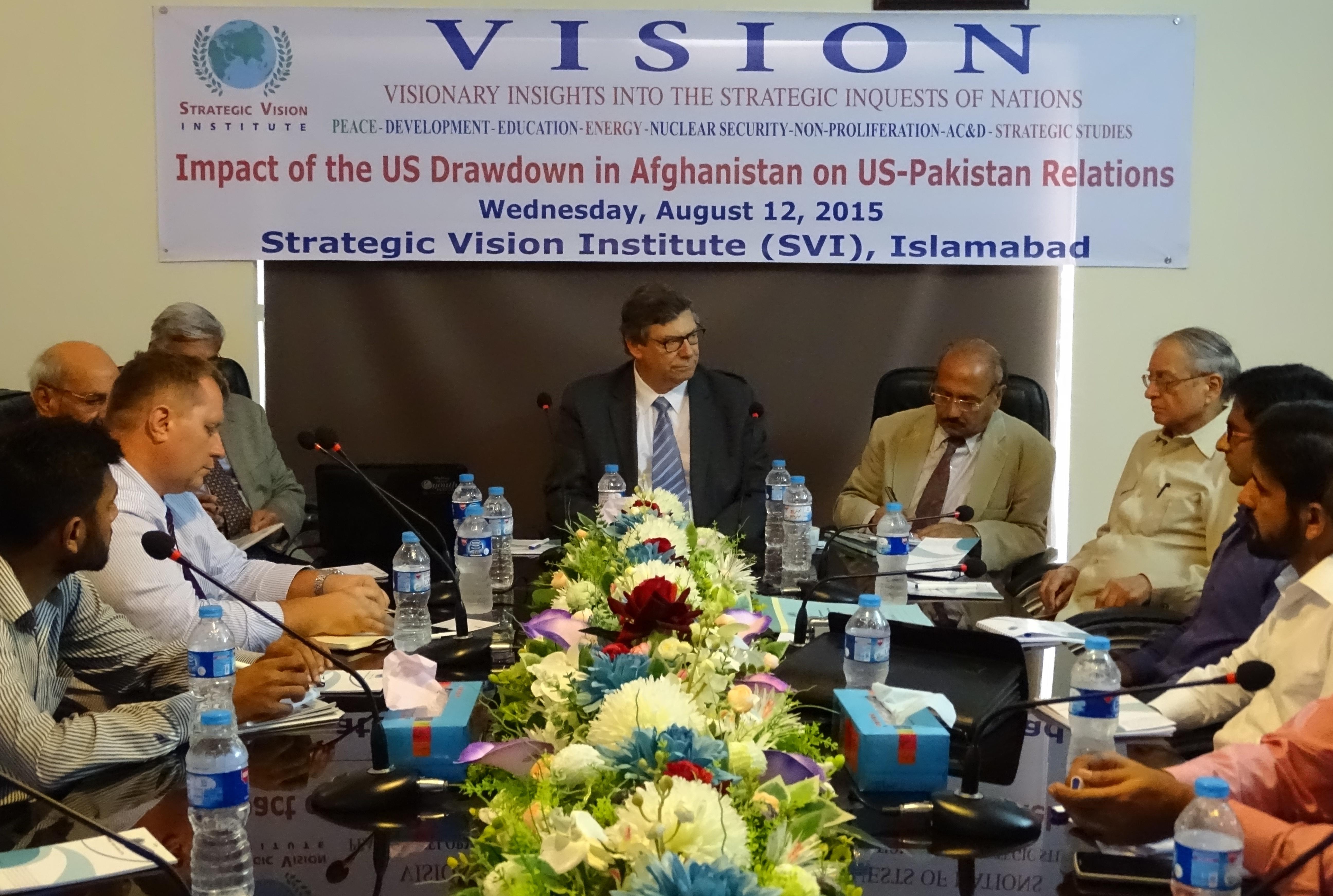 In House Seminar on US Drawdown in Afghanistan & Pak-US Relations 12-8-2015