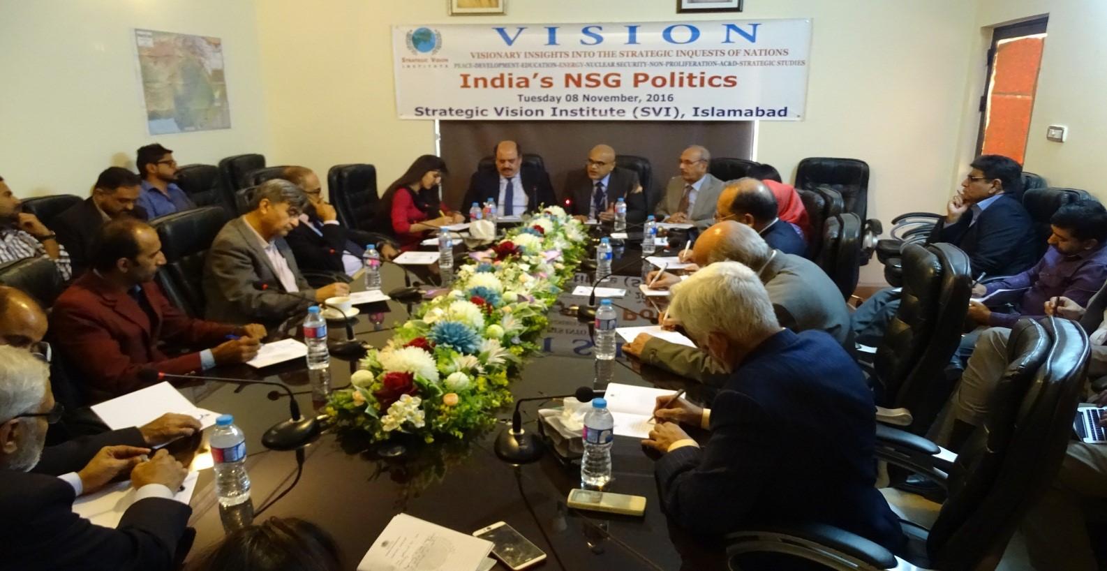 "Report on In-House Seminar on ""India's NSG Politics"" – November 8, 2016"