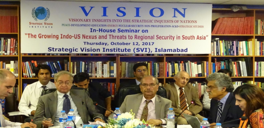 SVI In-House Seminar October 12, 2017: Report – Growing Indo-US Nexus and Threat to Regional Security in  South Asia