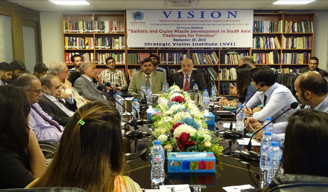 Ballistic and Cruise Missile Development in South Asia: Challenges for Pakistan-SVI In-house Seminar/Panel Discussion: Report – September 25, 2018