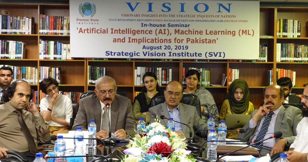 In-house Seminar on    Artificial Intelligence (AI), Machine Learning (ML) and Implications for Pakistan