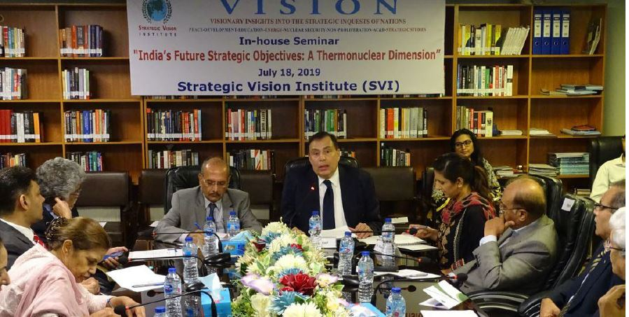 SVI In-house Seminar/Panel Discussion: Report – July 18, 2019 on India's Future Strategic Objectives: A Thermonuclear Dimension