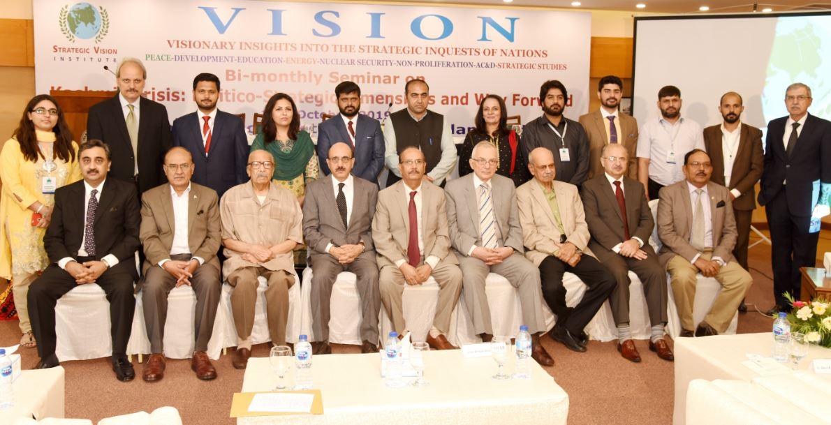 "SVI Bi-Monthly Seminar: Report ""Kashmir Crisis: Politico–Strategic Dimensions and Way Forward"" 14th October 2019"