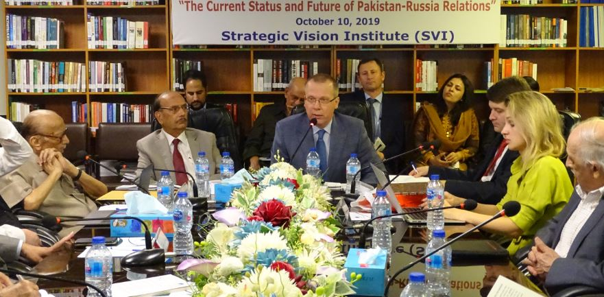SVI In-house Seminar/Panel Discussion: Report – 10th October 2019 The Current Status and Future of Pakistan – Russia Relations