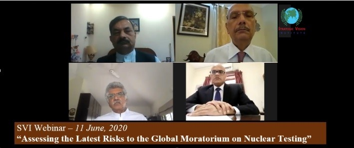 Assessing the Latest Risks to the Global Moratorium on Nuclear Testing on 11th  June 2020