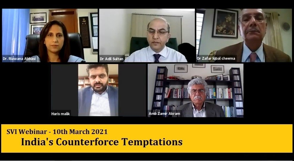 "SVI Webinar on"" India's Counterforce Temptations""-Published in THE NATION"