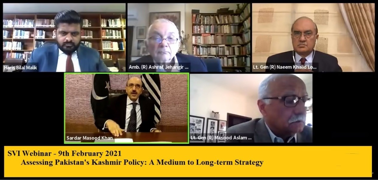SVI Webinar on Assessing Pakistan's Kashmir Policy A Medium to Long-term Strategy