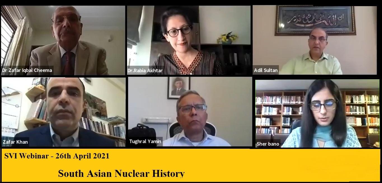 Webinar on South Asian Nuclear History