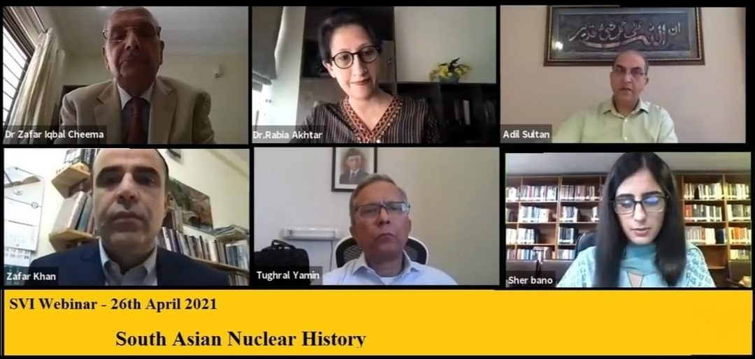 SVI Webinar / Panel Discussion: Report  on South Asian Nuclear History