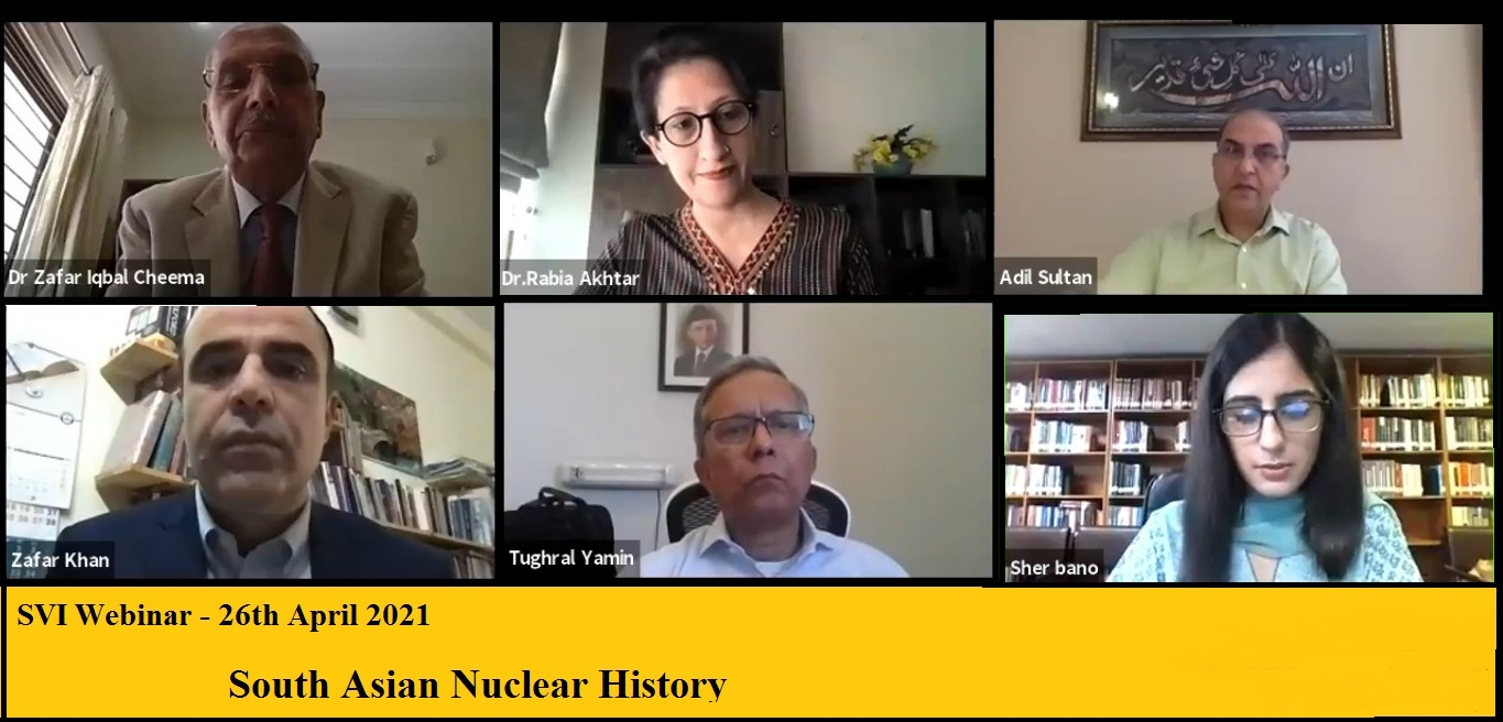 """SVI Webinar on: """"South Asian Nuclear History"""". Published in Dawn"""