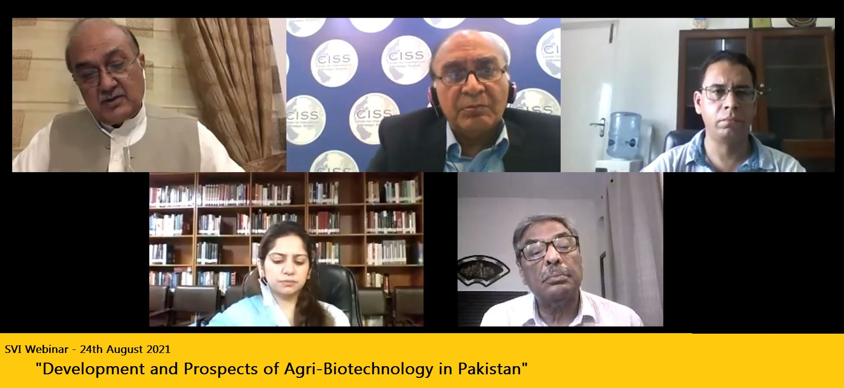 Development and Prospects of Agri-Biotechnology in Pakistan on 24 August 2021